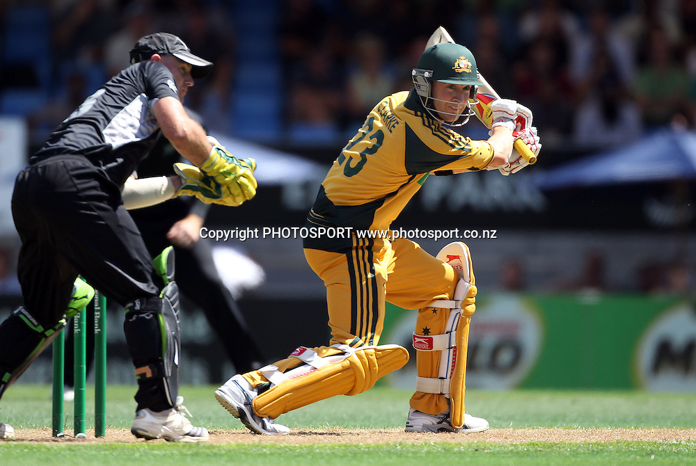 Michael Clarke batting.<br />