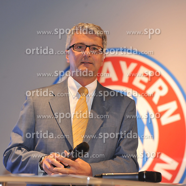 "01.08.2012, Allianz Arena, Muenchen, GER, 1. FBL, FC Bayern Muenchen, Eroeffnung Erlebniswelt des FC Bayern, im Bild Rupert STADLER (AUDI AG) // during the Grand opening of the "" FC Bayern Erlebniswelt"" at the Allianz Arena, Munich, Germany on 2012/08/01. EXPA Pictures © 2012, PhotoCredit: EXPA/ Eibner/ Wolfgang Stuetzle..***** ATTENTION - OUT OF GER *****"