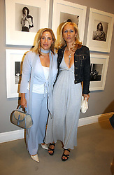 Left to right, sisters MRS LESLEY KING-LEWIS and <br />
