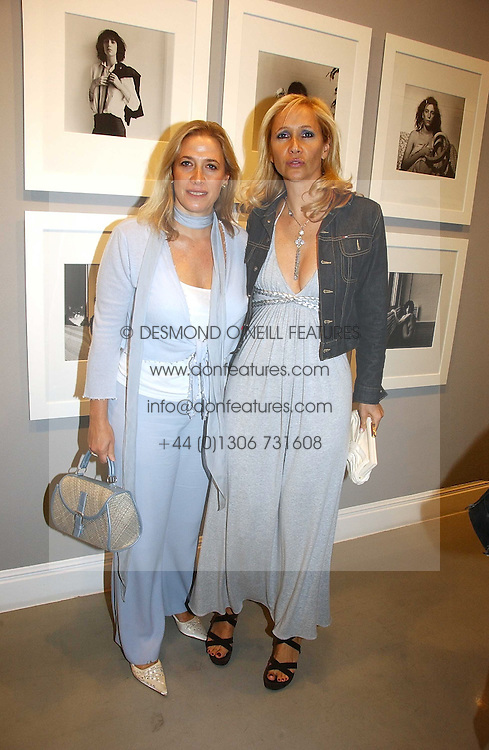 Left to right, sisters MRS LESLEY KING-LEWIS and <br />TV presenter TANIA BRYER at an exhibition of photographs by the late Robert Mapplethorpe at the Alison Jacques Gallery, 4 Clifford Street, London W1 on 7th September 2006.<br /><br />NON EXCLUSIVE - WORLD RIGHTS
