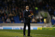 Brighton Manager, Chris Hughton during the Sky Bet Championship match between Brighton and Hove Albion and Bristol City at the American Express Community Stadium, Brighton and Hove, England on 20 October 2015.