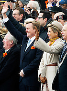 SCHEVENINGEN – NETHERLANDS – King Willem Alexander and Queen Maxima during the celebration of 200 years kingdom in the Netherlands on  the beach of Scheveningen . COPYRIGHT ROBIN UTRECHT