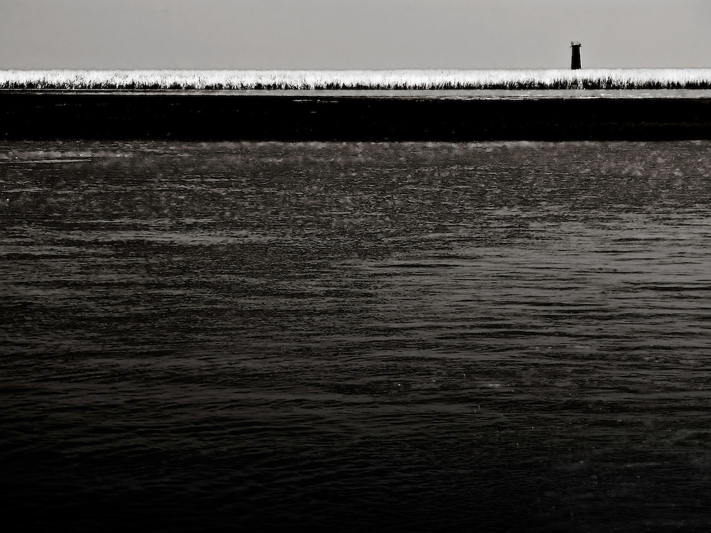 Pass A Loutre Island, with Pass A Loutre Lighthouse in distance, in south Louisiana.  Copyright 2011 Reid McNally.