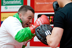 Slovenian Boxer Dejan Zavec alias Jan Zaveck alias Mr. Simpatikus at open for public and press practice session before defending title of IBF World Champion, on April 6, 2010, in BTC City park, Ljubljana, Slovenia.  (Photo by Vid Ponikvar / Sportida)
