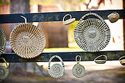 Gullah sweetgrass baskets for sale at Boone Hall Plantation in Charleston, SC.