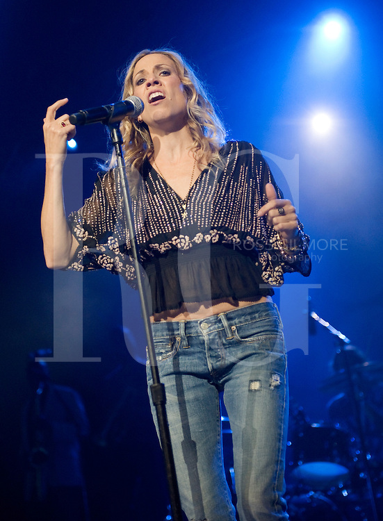 GLASGOW, UNITED KINGDOM - OCTOBER 11: Sheryl Crow performs on stage during the first night of her UK tour at Clyde Auditorium on October 11, 2010 in Glasgow, Scotland. (Photo by Ross Gilmore)