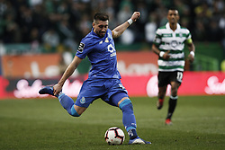 January 12, 2019 - Lisbon, Portugal - Hector Herrera of Porto  in action  during Primeira Liga 2018/19 match between Sporting CP vs FC Porto, in Lisbon, on January 12, 2019. (Credit Image: © Carlos Palma/NurPhoto via ZUMA Press)