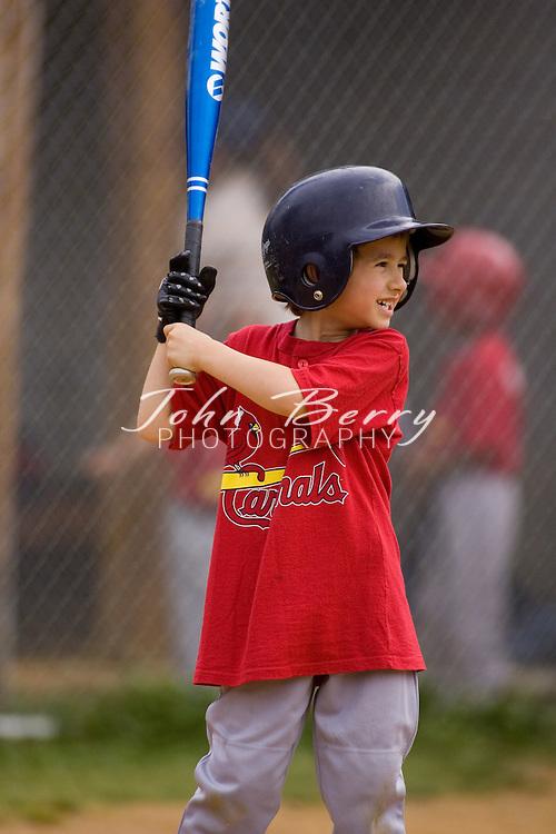 Madison Parks and Rec Baseball.T-Ball--Marlins vs Cardinals.5/12/2007
