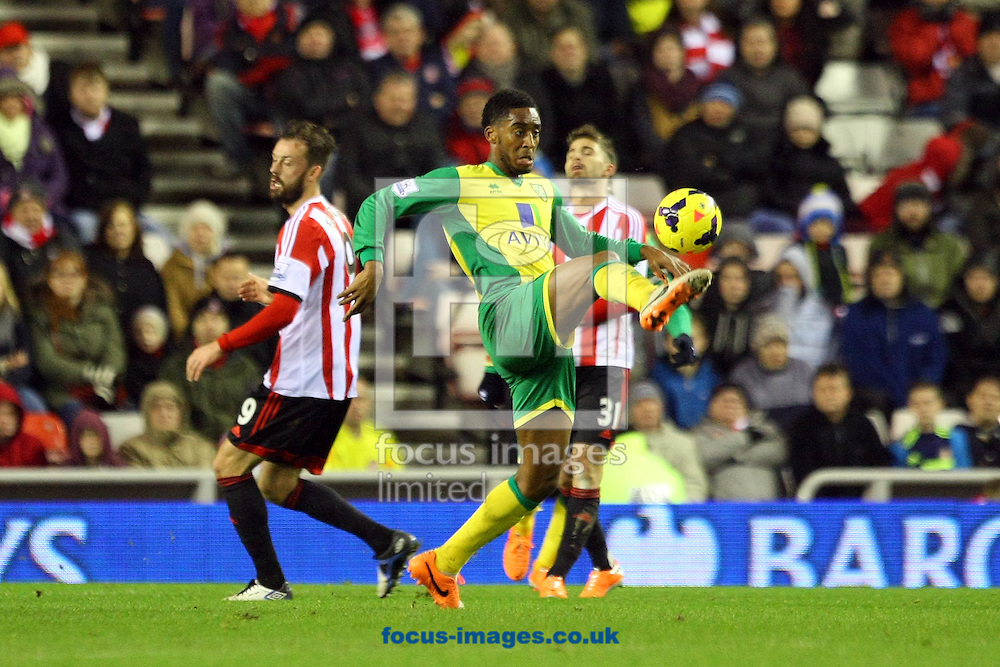 Picture by Paul Chesterton/Focus Images Ltd +44 7904 640267<br /> 21/12/2013<br /> Leroy Fer of Norwich in action during the Barclays Premier League match at the Stadium Of Light, Sunderland.