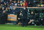 Norwich City's manager Daniel Farke during the EFL Sky Bet Championship match between Norwich City and Sheffield Utd at Carrow Road, Norwich, England on 20 January 2018. Photo by John Marsh.