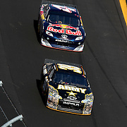 Sprint Cup Series driver Ryan Newman (39) and Sprint Cup Series driver Kasey Kahne (4) during the Daytona 500 Sprint Cup Race at Daytona International Speedway on February 20, 2011 in Daytona Beach, Florida. (AP Photo/Alex Menendez)