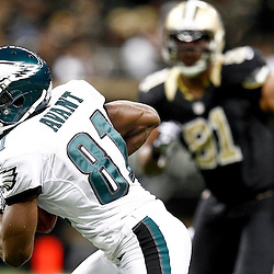 November 5, 2012; New Orleans, LA, USA; Philadelphia Eagles wide receiver Jason Avant (81) against the New Orleans Saints during the second half of a game at the Mercedes-Benz Superdome. The Saints defeated the Easgles 28-13. Mandatory Credit: Derick E. Hingle-US PRESSWIRE