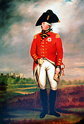 George III (1738-1820) King of Great Britain and Ireland from 1760. Full-length portrait in military uniform by William Beechey (1775-1839)