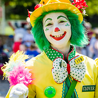Canterbury 4th of July Parade, Clover the Clown.