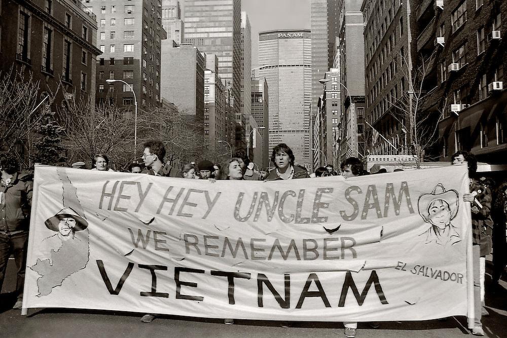 We Remember Vietnam Demonstration on Park Avenue, Manhattan.