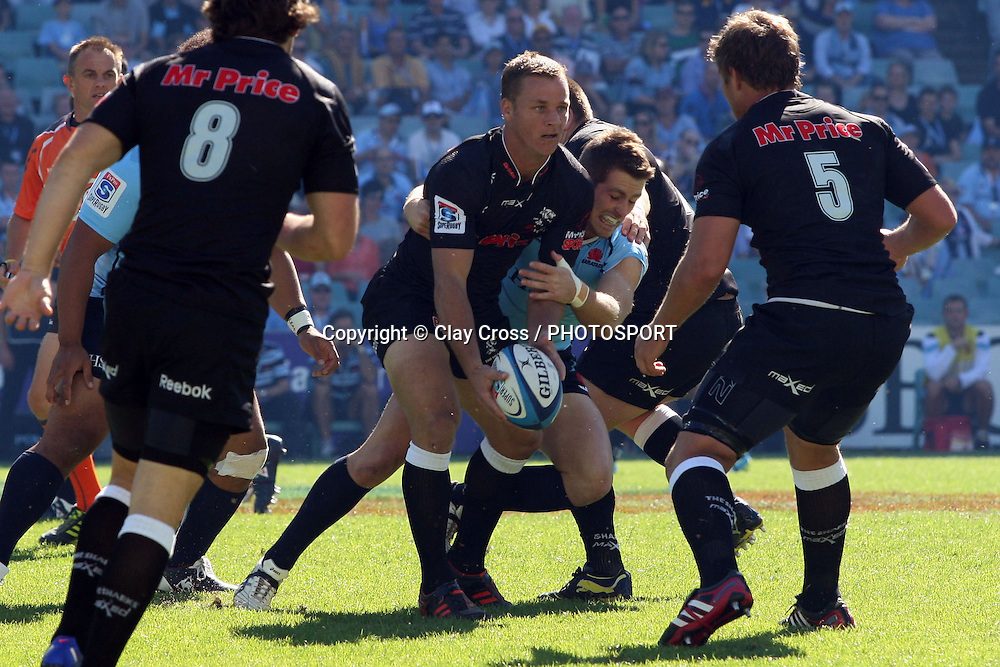 Riaan Viljoen. Waratahs v Sharks. 2012 Super Rugby round 5 match. Allianz Stadium, Sydney Australia on Saturday 24 March 2012. Photo: Clay Cross / photosport.co.nz