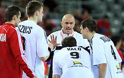 Head coach of Slovakia Zoltan Heister during 21st Men's World Handball Championship 2009 Main round Group I match between National teams of Slovakia and Korea, on January 24, 2009, in Arena Zagreb, Zagreb, Croatia.  (Photo by Vid Ponikvar / Sportida)