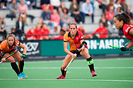 EINDHOVEN - Oranje Rood - Nijmegen.<br /> Hoofdklasse dames<br /> Foto: Strafcorner, concentratie bij Daphne van der Velden.<br /> WORLDSPORTPICS COPYRIGHT FRANK UIJLENBROEK