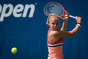 Karolina Muchova of the Czech Republic in action during the final qualifications round, at the 2018 US Open Grand Slam tennis tournament, New York, USA, August 24th 2018, Photo Rob Prange / SpainProSportsImages / DPPI / ProSportsImages / DPPI