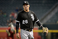 PHOENIX, AZ - MAY 24:  Avisail Garcia #26 of the Chicago White Sox warms up prior to the MLB game against the Arizona Diamondbacks at Chase Field on May 24, 2017 in Phoenix, Arizona. The Arizona Diamondbacks won 8-6.  (Photo by Jennifer Stewart/Getty Images)
