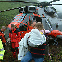 River Almond, Crieff Perthshire Flooding Rescue.  19.06.05<br />