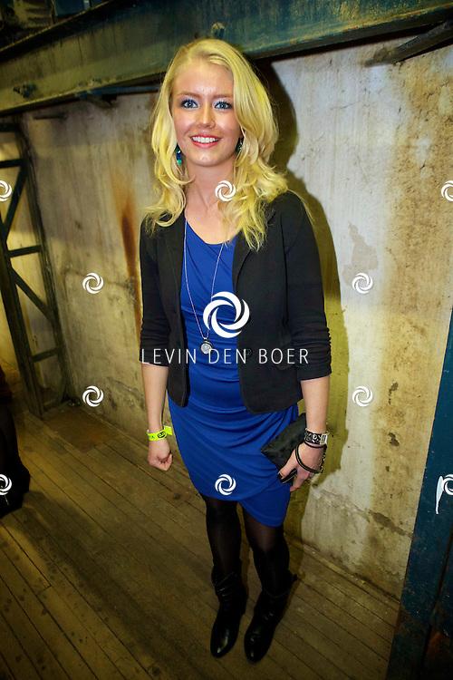 MAARSSEN - In de Fabrique hield de KRO de jaarlijkse afterparty voor 'Boer Zoekt Vrouw'. Met hier op de foto  Leonie uit 'Boer Zoekt Vrouw' seizoen 7. FOTO LEVIN DEN BOER - PERSFOTO.NU