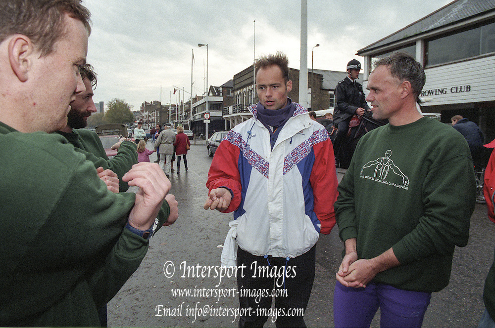 Putney. London. GREAT BRITAIN;  Left to right, Niall O'TOOLE. Peter HAINING,  Wade HALL CRAGGS and Frans GOEBEL <br /> <br /> 1995 Thames World Sculling Championships, Putney to Mortlake. Championship Course, River Thames.<br /> <br /> [Mandatory Credit; &quot;Photo, Peter Spurrier/Intersport-images]