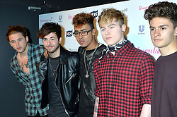 Image ©Licensed to i-Images Picture Agency. 10/06/2014.<br /> <br /> Pictured is boy band London Road arriving at the party.<br /> <br /> Superdrug 50th Anniversary Party at The Bankside Vaults, Southbank, London, UK.<br /> <br /> Tuesday 10th of June 2014<br /> Picture by Ben Stevens / i-Images