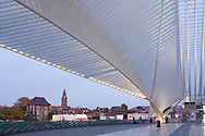 Europe, Belgium, Liege, roof of the railway station Liege-Guillemins, architect Santiago Calatrava<br /> <br /> Europa, Belgien, Luettich, Dach des Bahnhofe Luettich-Guillemins, Architekt Santiago Calatrava.