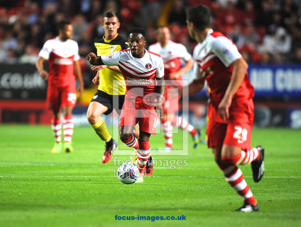 Callum Harriott of Charlton Athletic during the Capital One Cup match at The Valley, London<br /> Picture by Alan Stanford/Focus Images Ltd +44 7915 056117<br /> 12/08/2014