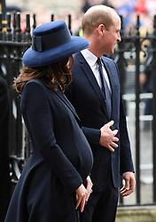 Members of The Royal Family attend the Commonwealth Day Observance Service at Westminster Abbey, London, UK, on the 12th March 2018. 12 Mar 2018 Pictured: Catherine, Duchess of Cambridge, Kate Middleton, Prince William, Duke of Cambridge. Photo credit: James Whatling / MEGA TheMegaAgency.com +1 888 505 6342