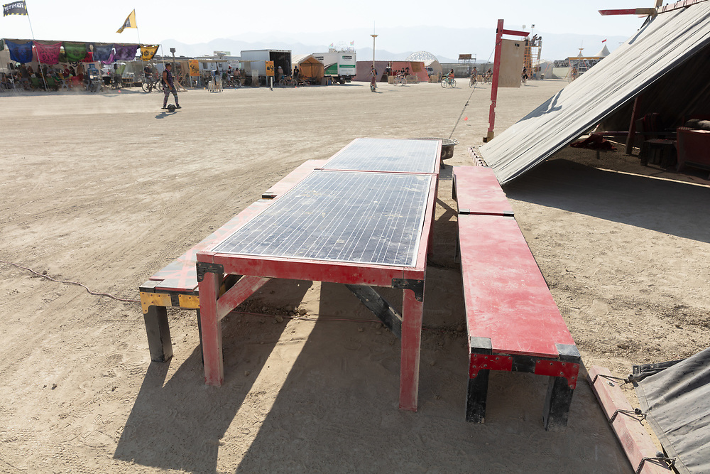 Brilliant! All picnic tables should be solar panels. My Burning Man 2018 Photos:<br />