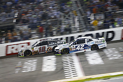 September 22, 2018 - Richmond, Virginia, United States of America - Kyle Larson (42) battles for position during the Federated Auto Parts 400 at Richmond Raceway in Richmond, Virginia. (Credit Image: © Chris Owens Asp Inc/ASP via ZUMA Wire)