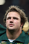 South Africa flanker Heinrich Brussow lines up before the international match between France and South Africa at Stade Municipal on November 13, 2009 in Toulouse, France.