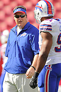 Buffalo Bills head coach Doug Marrone during the Tampa Bay Buccaneers 27-6 win over the Bills at Raymond James Stadium on Dec. 8, 2013   in Tampa, Florida.        ©2013 Scott A. Miller