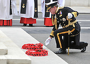 Admiral Sir Mark Stanhope lays a wreath commemorating the war dead. The Prime Minister, HRH Prince Charles and Duchess of Cornwall attend the 65th Anniversary of Japan's WWII surrender.