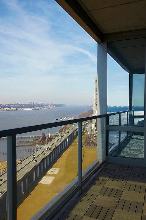 View of the Hudson River from 60 Riverside Boulevard, 27th floor