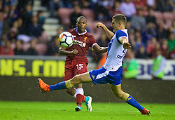 WIGAN, ENGLAND - Friday, July 14, 2017: Liverpool's Daniel Sturridge in action against Wigan Athletic during a preseason friendly match at the DW Stadium. (Pic by David Rawcliffe/Propaganda)
