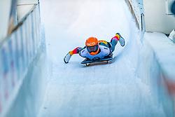 17.01.2020, Olympia Eiskanal, Innsbruck, AUT, BMW IBSF Weltcup Bob und Skeleton, Igls, Skeleton, Damen, 2. Lauf, im Bild Tina Hermann (GER) // Tina Hermann of Germany reacts after her 2nd run of women's Skeleton competition of BMW IBSF World Cup at the Olympia Eiskanal in Innsbruck, Austria on 2020/01/17. EXPA Pictures © 2020, PhotoCredit: EXPA/ Stefan Adelsberger