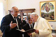 Pope Francis Meets With Bojko Borissov - 25 May 2018