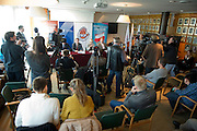 General view during press conference before National Day of Sport 2013 at Olympic Centre in Warsaw on October 17, 2013.<br /> <br /> Poland, Warsaw, October 17, 2013<br /> <br /> Picture also available in RAW (NEF) or TIFF format on special request.<br /> <br /> For editorial use only. Any commercial or promotional use requires permission.<br /> <br /> Mandatory credit:<br /> Photo by &copy; Adam Nurkiewicz / Mediasport