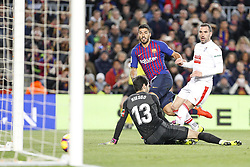 January 13, 2019 - Barcelona, Catalonia, Spain - FC Barcelona forward Luis Suarez (9) goal action during the match FC Barcelona against Eibar, for the round 19 of the Liga Santander, played at Camp Nou  on 13th January 2019 in Barcelona, Spain. (Credit Image: © Mikel Trigueros/NurPhoto via ZUMA Press)
