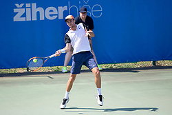 Nikola Cacic (SRB) play against Ljubomir Celebic (MNE) at ATP Challenger Zavarovalnica Sava Slovenia Open 2018, on August 4, 2018 in Sports centre, Portoroz/Portorose, Slovenia. Photo by Urban Urbanc / Sportida