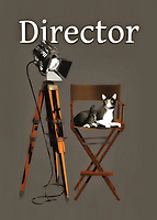 "Pair this up with the ""Cats: Actor"" piece, and you will have two career paths in the same industry. It is also fun to imagine the cat from ""Actor"" interacting with the serious-looking feline in this piece. Are the cats getting along? Is the actor open to direction? You can see that the cat in ""Director"" seems to know exactly what needs to be done on the set. What are they working on? It is fun to imagine, and it is easy to imagine just about anyone being able to get a big kick out of this fine art example."