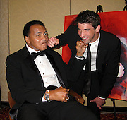 Muhammad Ali and Michael Phelps..Muhammad Ali Celebrityvibe Fight Night XV..A Benefit to raise funds to fight against Parkinson disease..Marriott Hotel and Resort..Phoenix, AZ, USA..Saturday, March 28, 2009..Photo By Celebrityvibe.com.To license this image please call (212) 410 5354; or Email: celebrityvibe@gmail.com ;.website: www.celebrityvibe.com