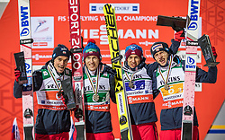 21.01.2018, Heini Klopfer Skiflugschanze, Oberstdorf, GER, FIS Skiflug Weltmeisterschaft, Teambewerb, Siegerehrung, im Bild 3 Platz Piotr Zyla (POL), Stefan Hula (POL), Kamil Stoch (POL) und Dawid Kubacki (POL) // 3th place Piotr Zyla of Poland, Stefan Hula of Poland, Kamil Stoch of Poland and Dawid Kubacki of Poland during Winner Award Ceremony of the Team competition of the FIS Ski Flying World Championships at the Heini-Klopfer Skiflying Hill in Oberstdorf, Germany on 2118/01/21. EXPA Pictures © 2118, PhotoCredit: EXPA/ Peter Rinderer