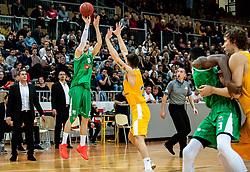 Aleksandar Lazic of Petrol Olimpija during basketball match between KK Sixt Primorska and KK Petrol Olimpija in semifinal of Spar Cup 2018/19, on February 16, 2019 in Arena Bonifika, Koper / Capodistria, Slovenia. Photo by Vid Ponikvar / Sportida