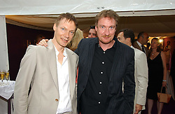 Left to right, musician WILLIAM ORBIT and actor DAVID THEWLISS at theThe Summer Ball in Berkeley Square , Londin W1 in aid of the Prince's Trust on 6th July 2006.<br />