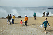 the annual cleaning up of the beach by local residence Kanaya Chiba prefecture Japan