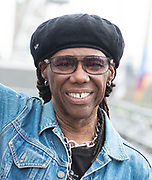 Nile Rodgers opens Meltdown 2019 with STUDIO 54 dancers on Royal Festival Hall rooftop, Southbank Centre, London, Great Britain <br /> 3rd August 2019 <br /> Press photo call <br /> <br /> Nile Rodgers <br /> Musician and Meltdown curator  <br /> <br /> Nile Rodgers and fabulous dancers and acrobats from the immersive A Night of STUDIO 54 <br /> <br /> The longest running artist-curated festival in the world returns with nine days of unmissable music all curated by Nile Rodgers. Running from 3 - 11 August 2019 across Southbank Centre's site.<br /> <br /> <br /> Photograph by Elliott Franks